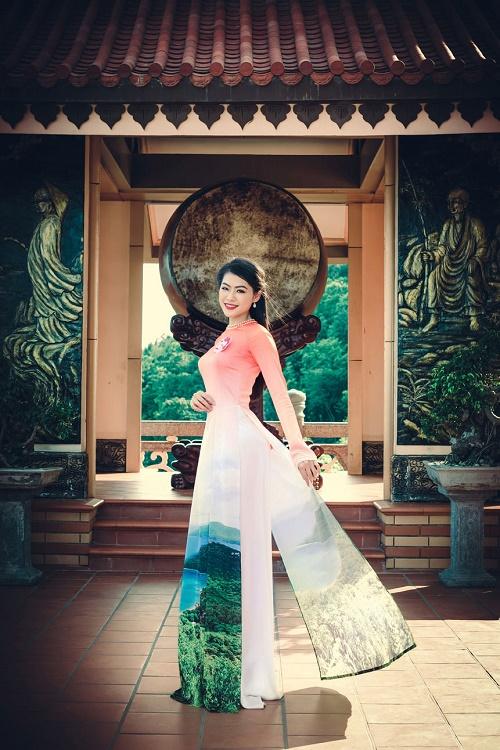Thi sinh Hoa hậu Biển thướt tha trong tà áo dài - 12