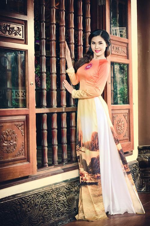 Thi sinh Hoa hậu Biển thướt tha trong tà áo dài - 15