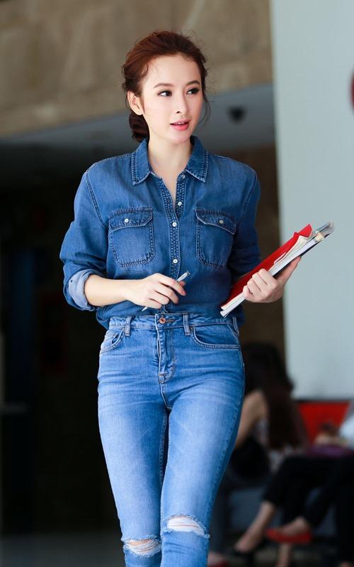 Phương Trinh tập gym, học tiếng Anh để sang Cannes - 2