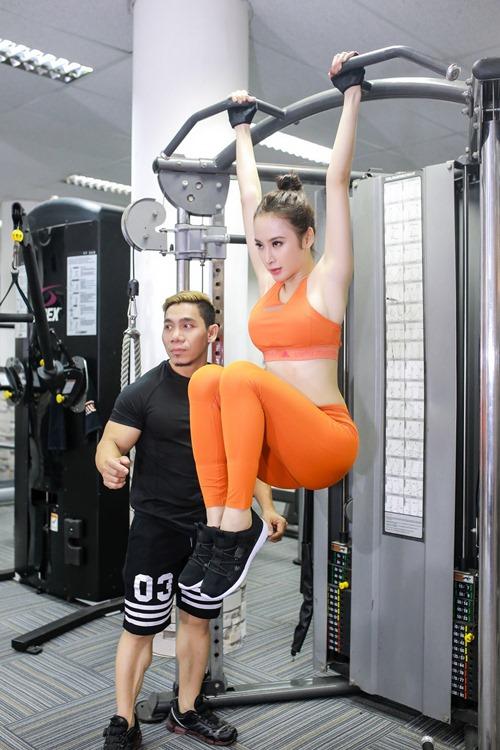 Phương Trinh tập gym, học tiếng Anh để sang Cannes - 10