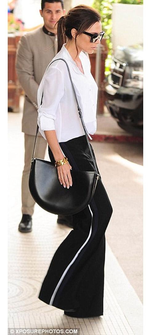 """Victoria Beckham - siêu sao """"thuần hóa"""" quần ống rộng - 5"""