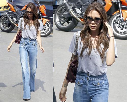 """Victoria Beckham - siêu sao """"thuần hóa"""" quần ống rộng - 7"""
