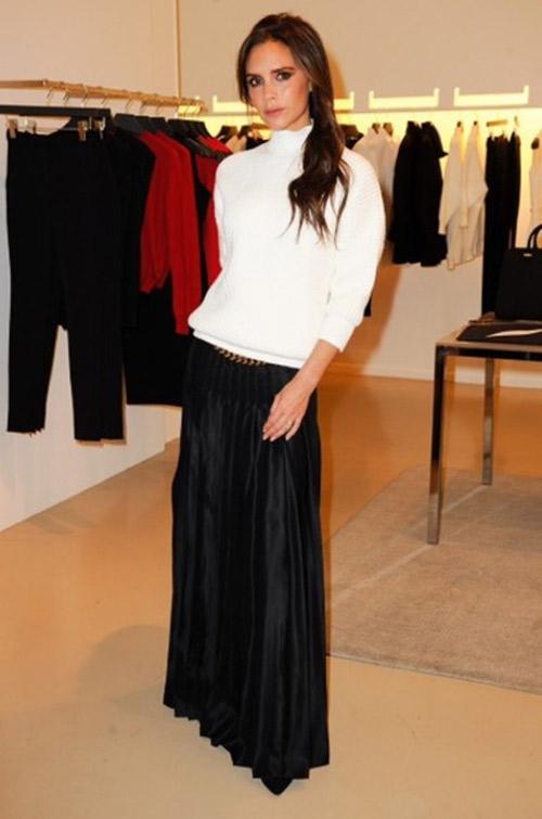 """Victoria Beckham - siêu sao """"thuần hóa"""" quần ống rộng - 11"""