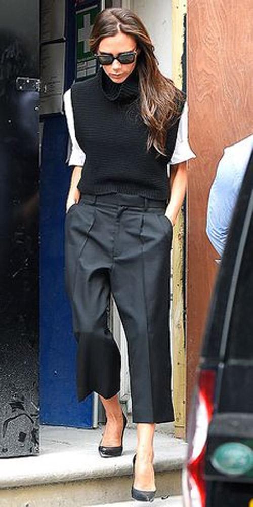 """Victoria Beckham - siêu sao """"thuần hóa"""" quần ống rộng - 13"""