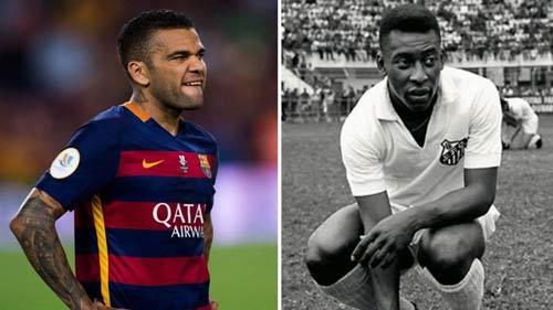 Barca vô địch, Dani Alves vượt mặt Pele - 1