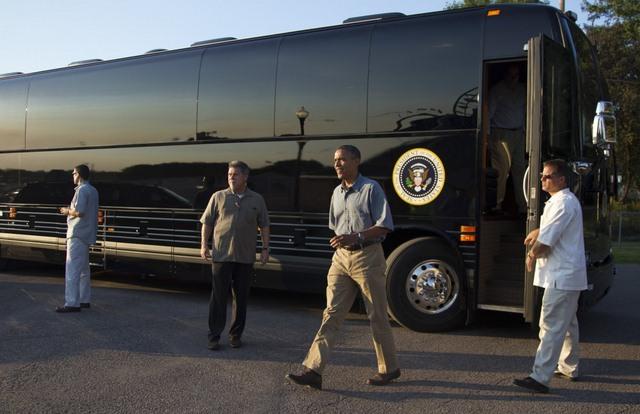 """Ground Force One - xe buýt """"quái vật"""" chuyên chở Obama - 6"""
