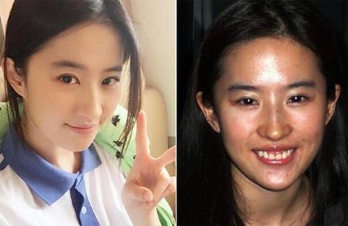 """Mặt mộc của nhiều mỹ nữ Hoa ngữ khiến fan """"ngã ngửa"""" - 7"""