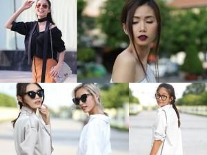 Chân dài Việt sành điệu khi đi xem thời trang