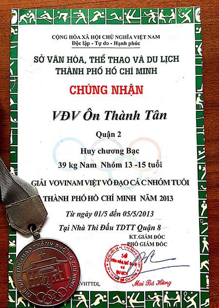 Thanh niên cướp giật bánh mì từng đoạt huy chương Vovinam - 1