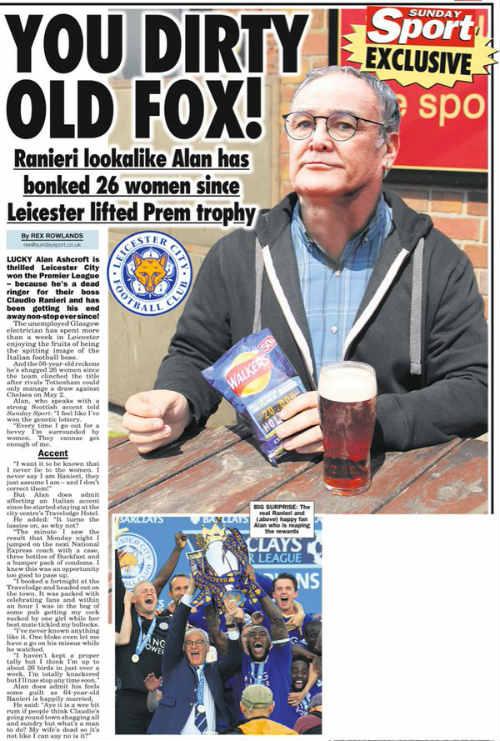 """""""Qua đêm"""" với 26 phụ nữ nhờ giống HLV Leicester City - 1"""
