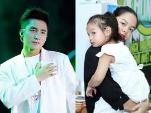 Con gái Quỳnh Anh bẽn lẽn khi gặp Sơn Tùng