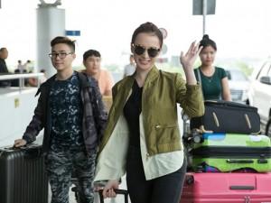 Angela Phương Trinh mang hơn 100 kg hành lý sang Cannes