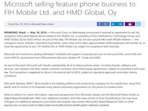 Nhà máy lắp ráp điện thoại Microsoft tại Việt Nam đổi chủ