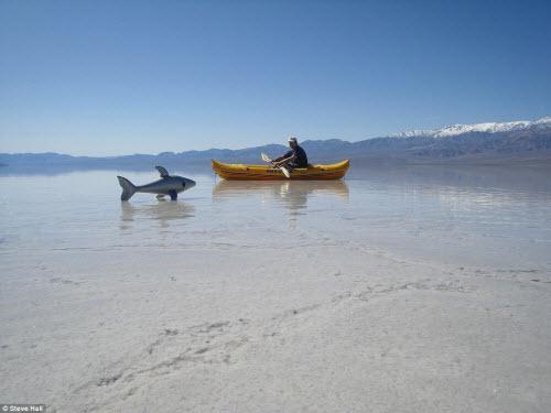 Hồ nước bất ngờ xuất hiện giữa thung lũng Chết - 3
