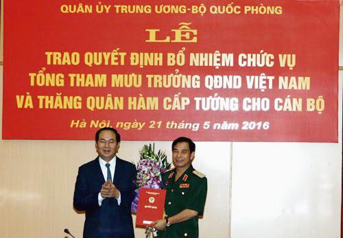 Chủ tịch nước bổ nhiệm tân Tổng Tham mưu trưởng Quân đội - 1
