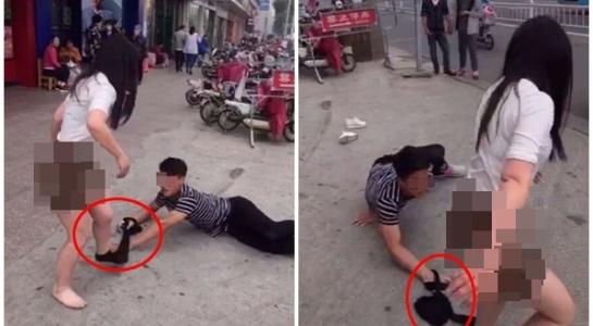 Cô gái bị tụt quần tất giữa đường vì muốn chia tay - 1