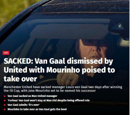 Van Gaal bị sa thải - 1