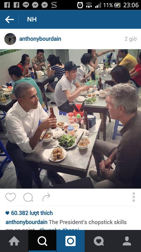 Obama ăn bún chả Hà Nội - 1