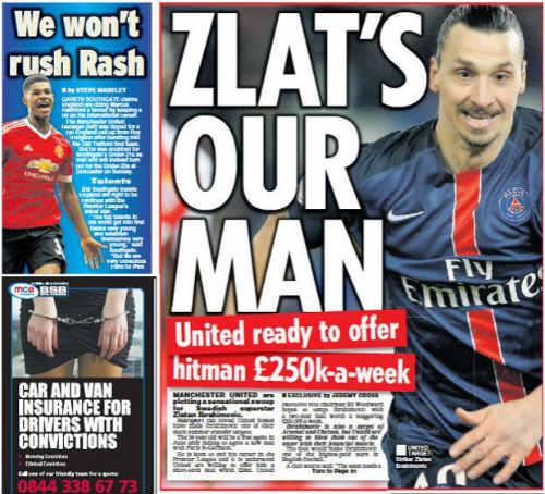 MU: Mourinho yêu cầu trả lương khủng để có Ibrahimovic - 1