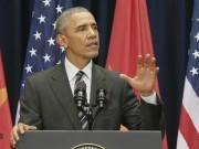 """Thế giới - Ông Obama có dùng """"máy nhắc bài"""" khi phát biểu?"""
