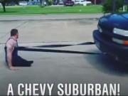 Thể thao - Cảm động: Lực sĩ cụt 2 chân lê người kéo xe ô tô