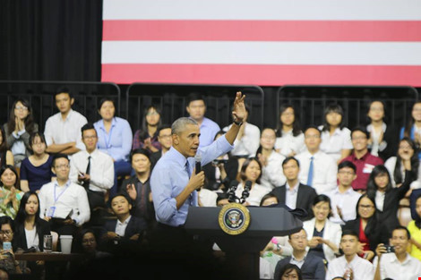 Truc tiep tong thong Obama - 1