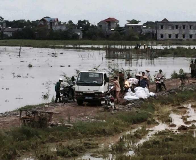 CSGT lội ruộng, ngâm mình cứu lúa trong nước lũ - 4