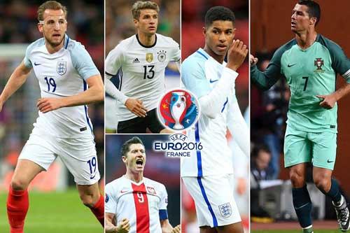 """Vua phá lưới Euro: Ronaldo đấu toàn """"hàng khủng"""" - 1"""