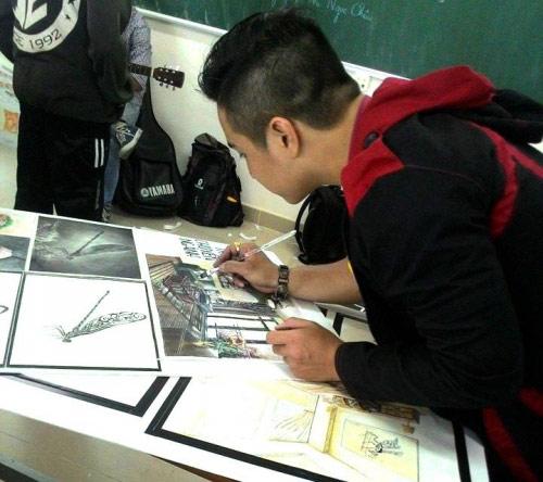 9X dùng giấy đốt vẽ tranh tặng Tổng thống Obama - 5