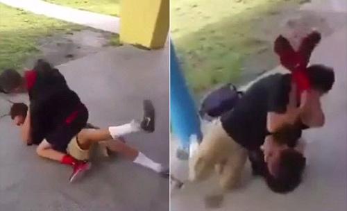 Cao thủ nhí dùng MMA đả bại kẻ gây hấn to xác - 1