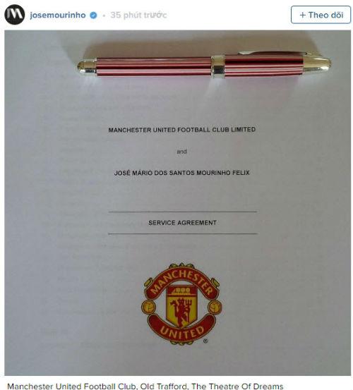 CHÍNH THỨC: Mourinho trở thành HLV trưởng MU - 3