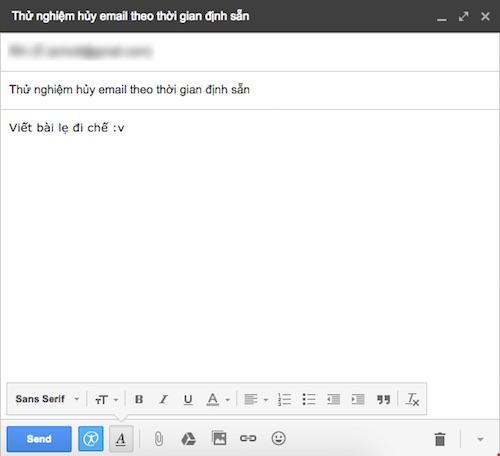 """""""Độc chiêu"""" gửi email tự hủy sau 5 phút - 2"""