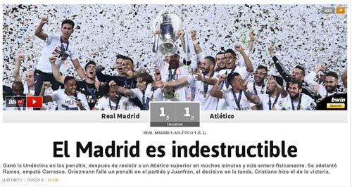 Real vô địch cúp C1, báo chí Barcelona kêu bất công - 1