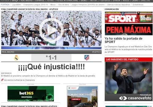 Real vô địch cúp C1, báo chí Barcelona kêu bất công - 2