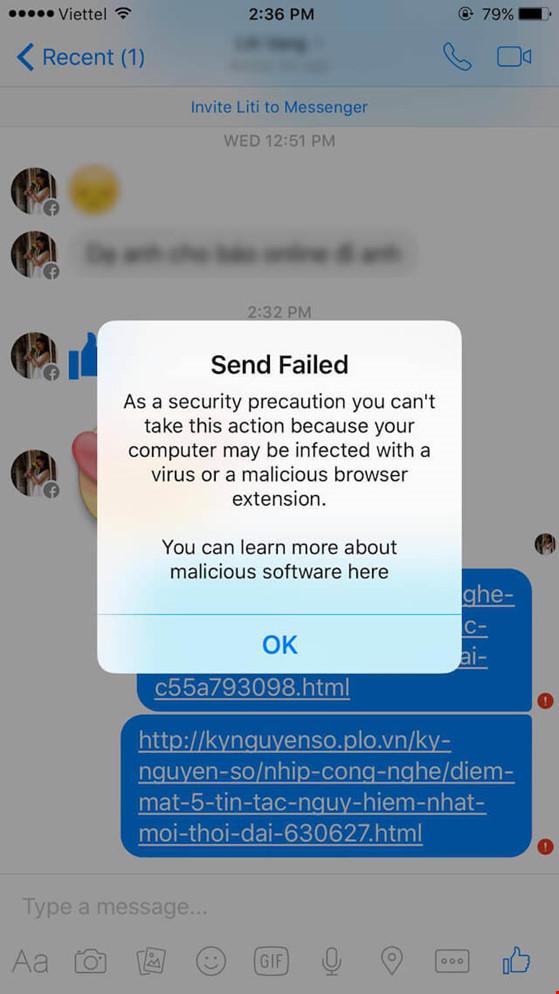 Xử lý lỗi không thể gửi link trên Facebook và Messenger - 2