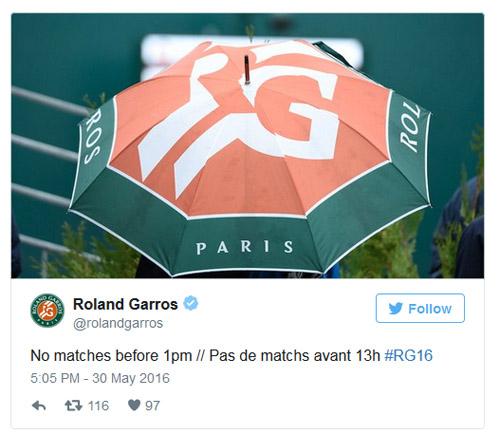 Roland Garros ngày 9: Hủy bỏ tất cả các trận - 2