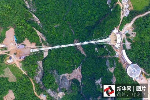 TQ hoàn thành cây cầu kính dài nhất thế giới - 1