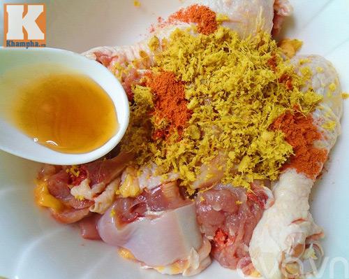 Đùi gà chiên móc mật giòn thơm - 4