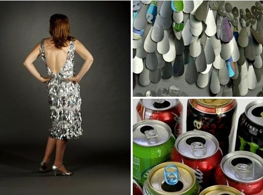 Váy làm từ 4000 khoen nắp lon bia bán 32 triệu đồng - 9