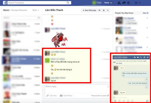 """Cách tìm lại biểu tượng """":v"""" và """":3"""" khi chat Facebook - 1"""
