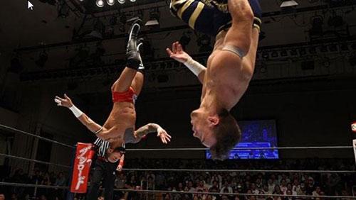 Bay lượn như chim ở trận đấu vật Nhật Bản - 1