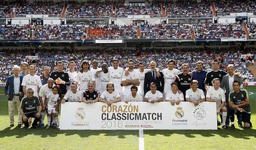 """Figo, Raul """"nhảy múa"""" cùng đội huyền thoại Real - 2"""