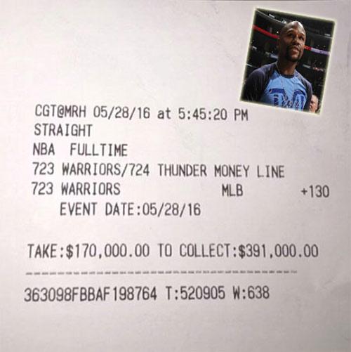 Lại thắng trò đỏ đen, Mayweather bỏ túi gần 9 tỷ đồng - 1