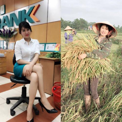 Cô gái xinh đẹp nổi tiếng vì bức hình đi gặt lúa - 1