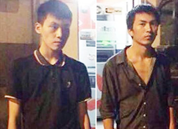 Bắt quả tang 2 thanh niên TQ rút trộm tiền cây ATM - 1