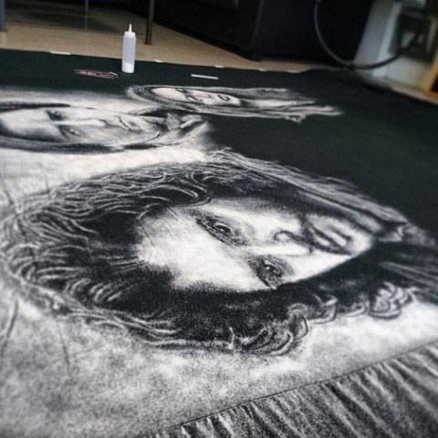 Ngỡ ngàng với những bức tranh được vẽ bằng muối - 2