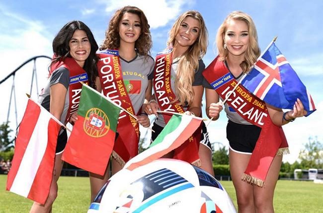 Cuộc thi Miss EURO 2016 vừa được tổ chức ở công viên Europa tại vùng Rust, bang Baden-Wuerttemberg (Đức) với sự góp mặt của 24 người đẹp đại diện cho 24 đội tuyển tranh tài ở ngày hội bóng đá sắp diễn ra trên đất Pháp.