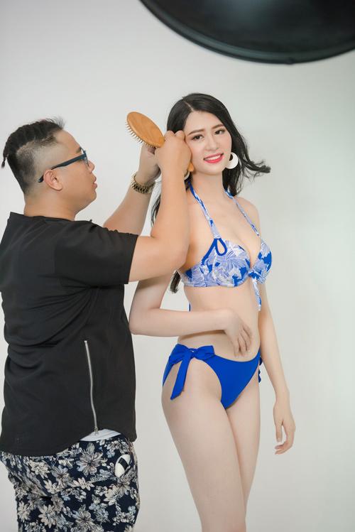 """Hậu trường chụp bikini rất """"nóng"""" của Hoa hậu VN 2016 - 10"""