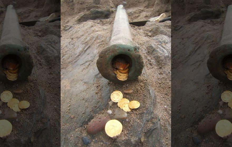 Tàu đắm 500 năm chở đầy vàng được khai quật ở Namibia - 3