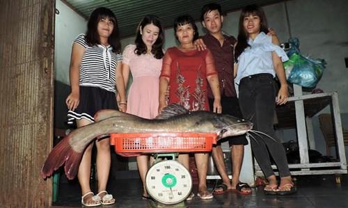Bắt được cá lăng khủng nặng gần 50 kg - 2